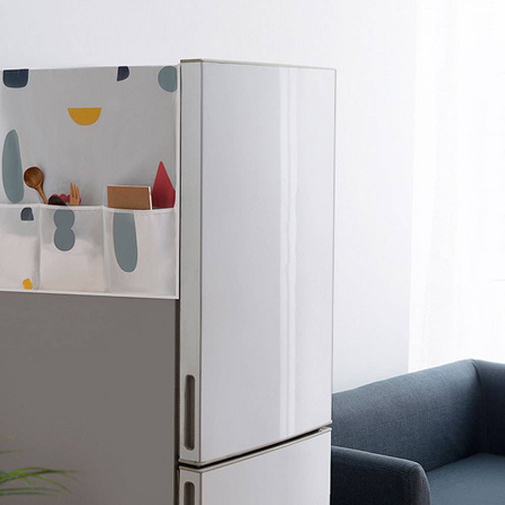 Flowers Print Refrigerator Cover Single Door Refrigerator Dust Cover Washing Machine Dust Covers Towel