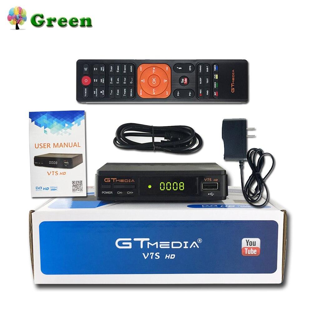 GTMedia V7S HD Récepteur Satellite Numérique DVB-S2 V7S HD 1080 P + USB WIFI Mise À Niveau Freesat V7 1 An Europe 7 Clines Serveur