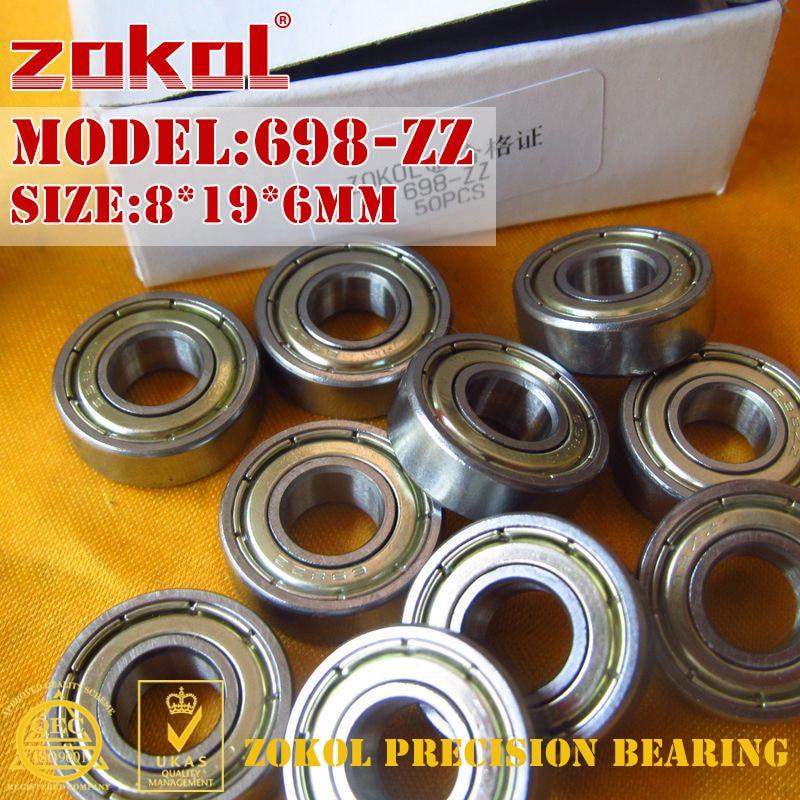 ZOKOL 698-ZZ bearing 698 ZZ Miniature  Deep Groove ball bearing 8*19*6mm 43 698