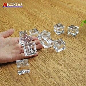 Image 3 - Künstliche Acryl Eiswürfel Reusable Gefälschte Kristall Bier Whisky Getränke Decor Material für Fotografie Requisiten Hochzeit Bar Partei