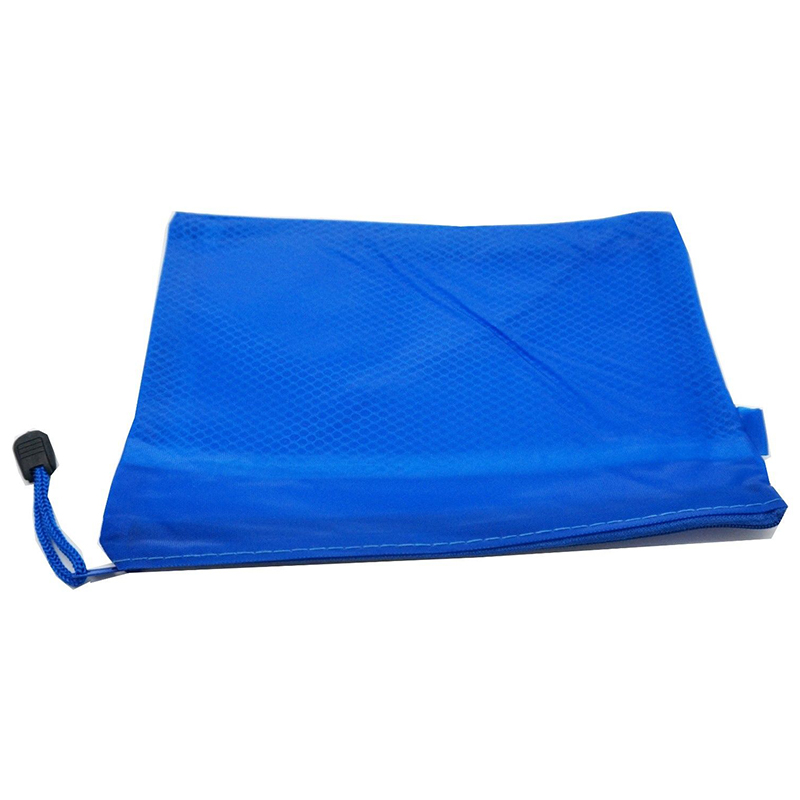A4 Fabric Zip Portfolio Bags Filing Document Pencil Storage Holder, A4 Blue