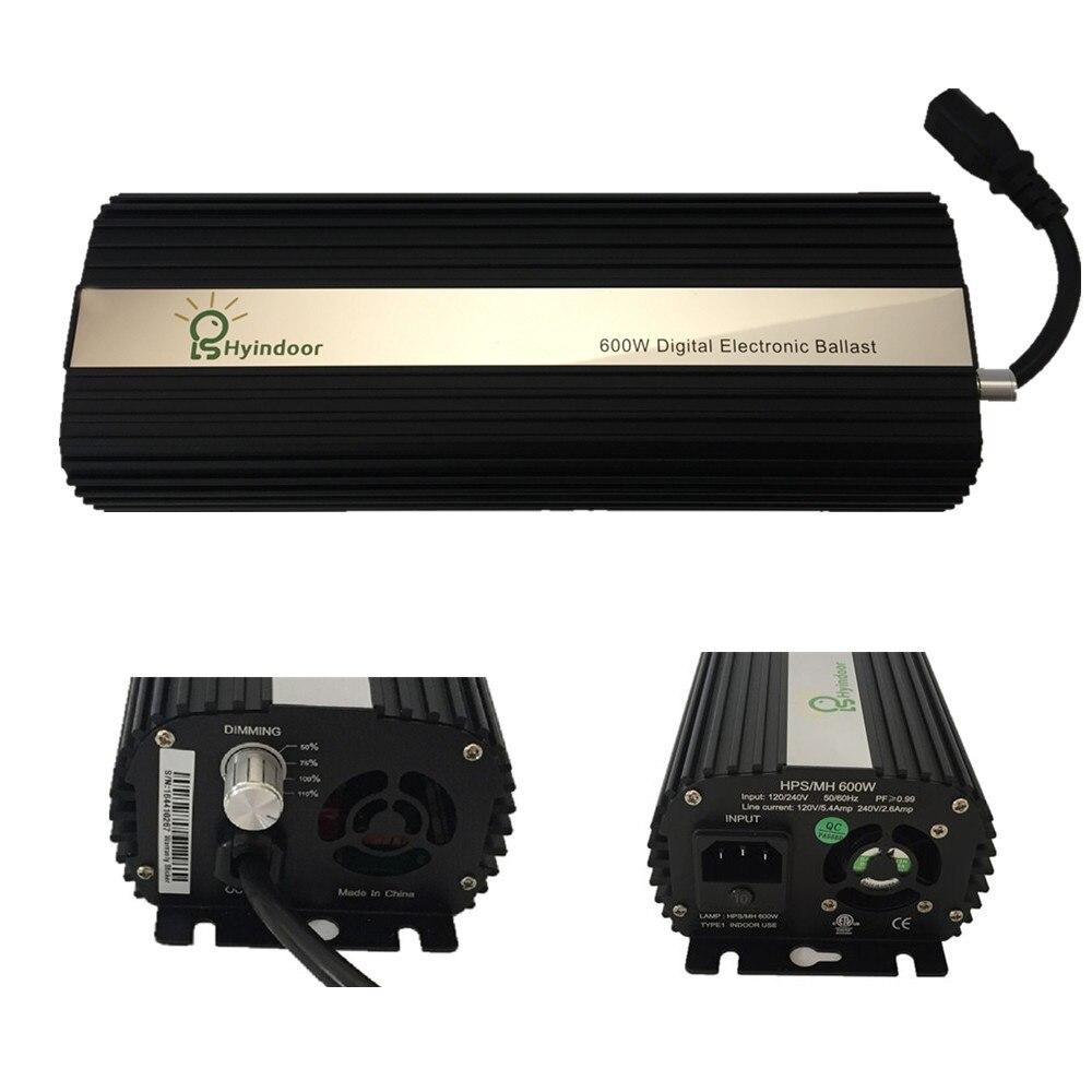 Numérique 600 w UE PLUG Ballasts pour planteur de jardin lampe horticole HPS MH Ampoules - 2