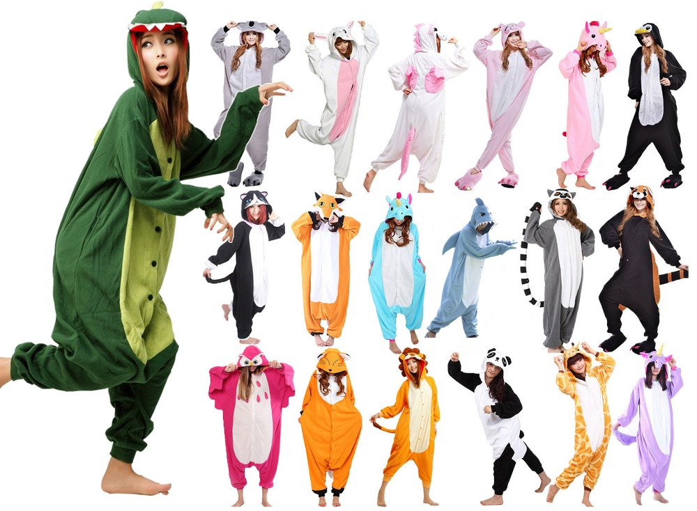Wotogold Animal Unicorn Bear Koala Narwhal Monkey Onesie Adult Kids Unisex Cosplay Costume Hooded Pajamas Sleepwear Men Women