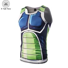 2019 hombres Bola de Dragón Z Vegeta Armor camisetas sin mangas Chaleco de culturismo Fitness camiseta Hipster 3D Anime tanques DBZ tanques X Task Force(China)