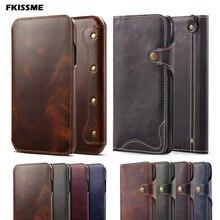 Ręcznie robione etui na telefon luksusowe etui z prawdziwej skóry dla iphone 11 PRO MAX 12 6S 7 8 Plus portfel etui z klapką dla iphone XS MAX X XR