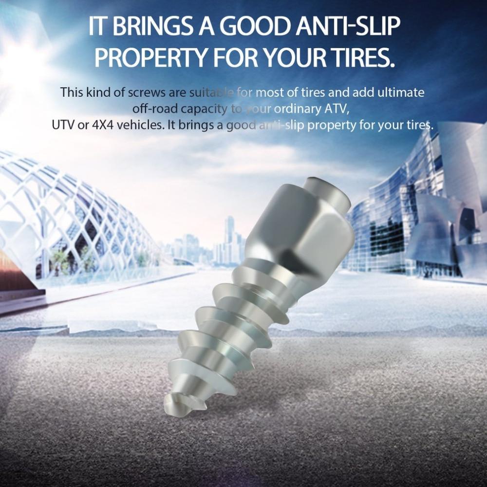 100Pcs Metal Winter Stud Screw Auto Car SUV ATV Anti-Slip Screw Stud Wheel Tyre Snow Tire Spikes Trim Auto Accessories Hot Sell