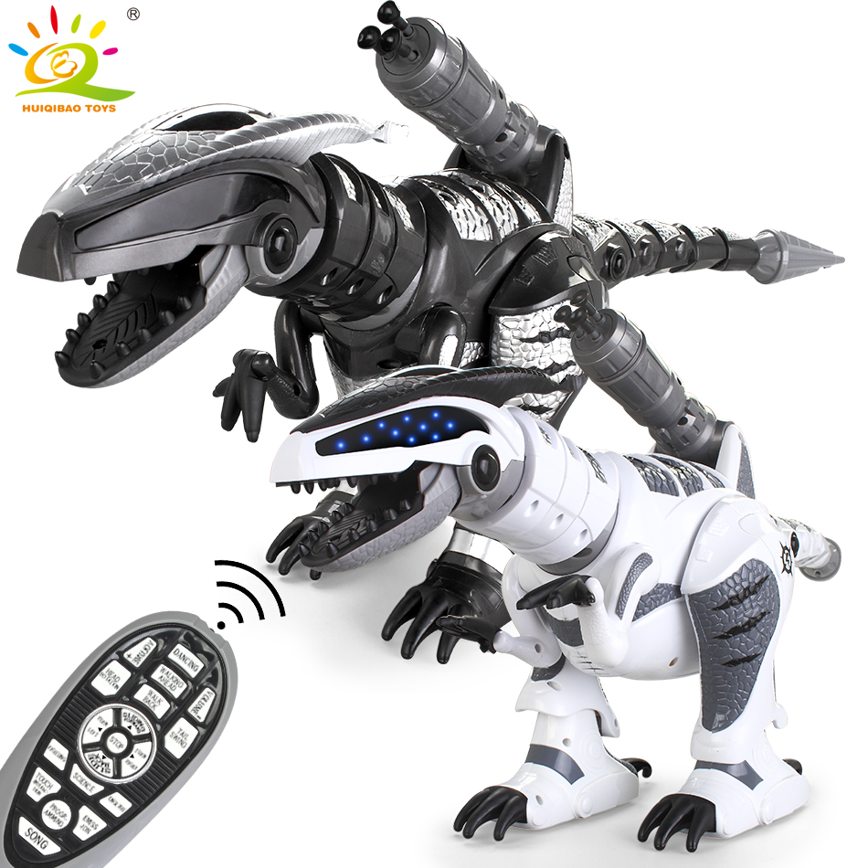 HUIQIBAO TOYS RC Dinosaur animal Pet Walking with song Flashing Light Electric Robot Action Figures Toys Gifts for Children kids 37 cm tyrannosaurus rex with platform dinosaur mouth can open and close classic toys for boys animal model without retail box