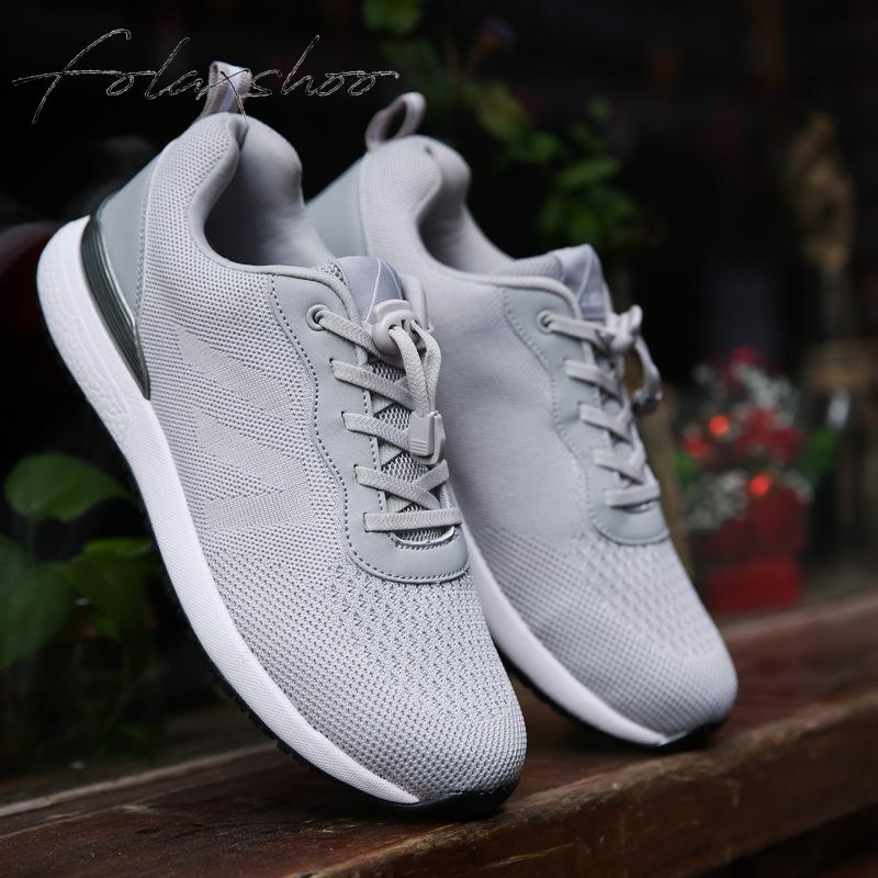 Hommes New De gris Casual Marche Light Chaussures Folaxshoo Confortable Facile Maille Aller Pilote Poids Fitness Bleu IXxdnZw