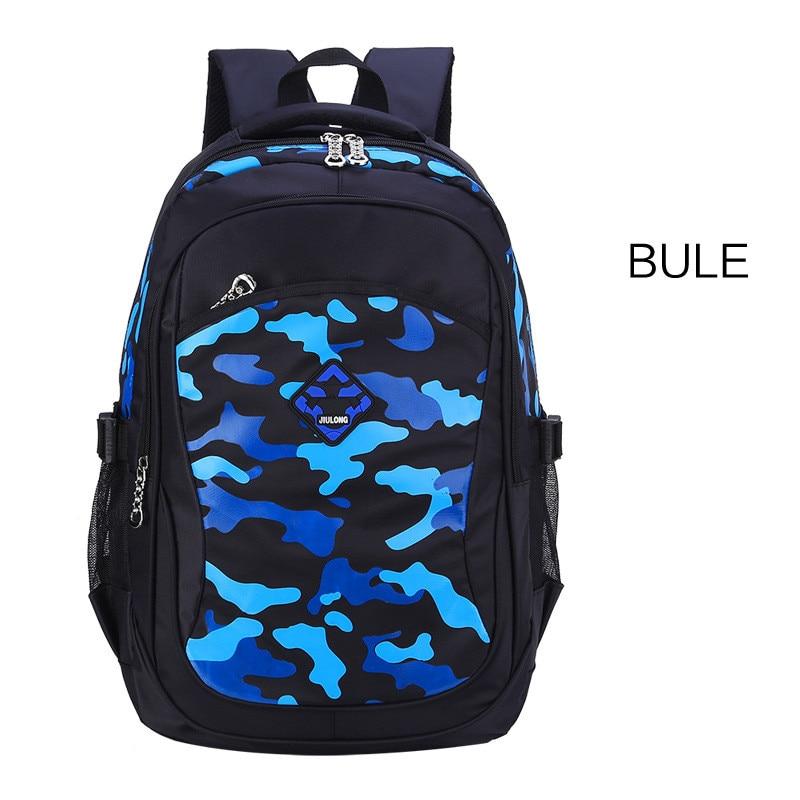 women travel backpack portable waterproof sport backpacks children schoolbag orthopedic school bag camouflage kids book bags Q1