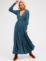 2017 Women S Long Maxi Dress V Neck Long Sleeve Halter Dress Backless Hollow Out Bandage