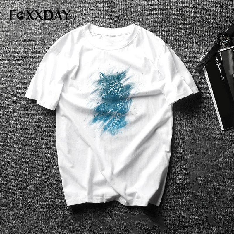 Real T Shirt Fashion cute Owl T-Shirt Colorful and varied Owls Short Sleeve Male Tops Hipster Tee Shirt Print suprem