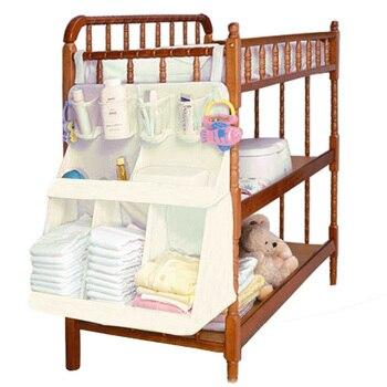 Łóżeczko dla dziecka wiszący organizator ścienny wodoodporne pieluchy dla dzieci ubrania butelka do karmienia zabawki akcesoria torba na organizery dziecięce łóżko