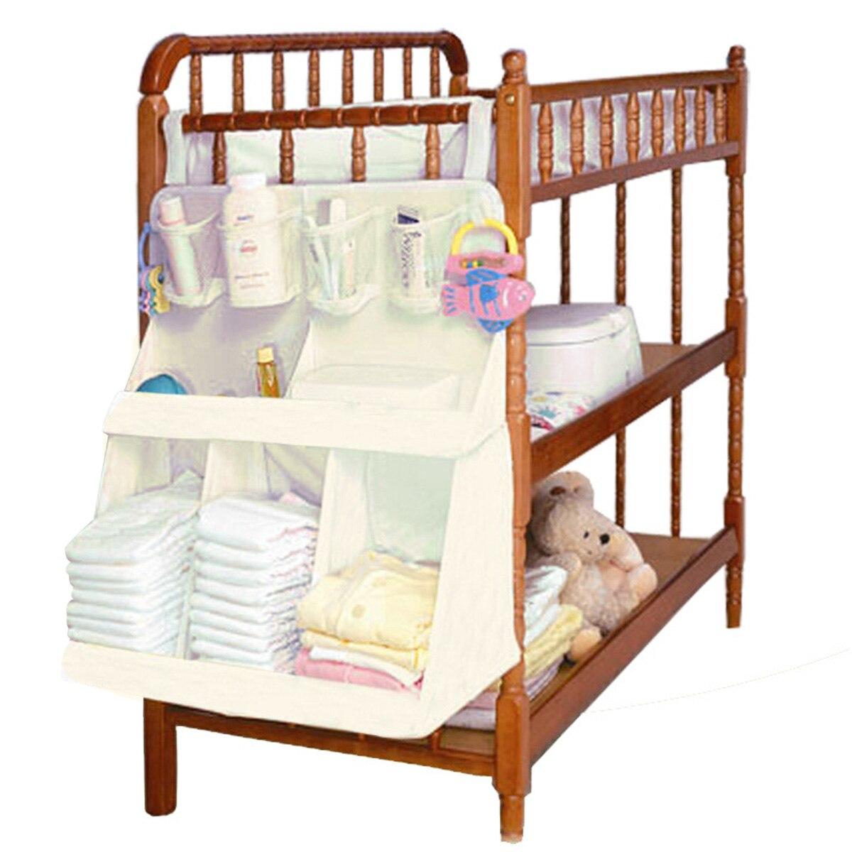 Bébé lit suspendu organisateur sac imperméable bébé couches vêtements biberon jouets accessoires organisateur sac pour lit de berceau