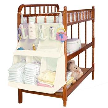 Bebê cama pendurado organizador saco à prova dwaterproof água fraldas do bebê roupas garrafa de alimentação brinquedos accessoriesorganizer saco para berço cama