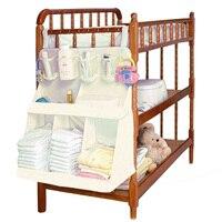 Baby Bedding Set Accessories Waterproof Diapers Organizer Baby Crib Bed Hanging Bag Portable Storage Bag