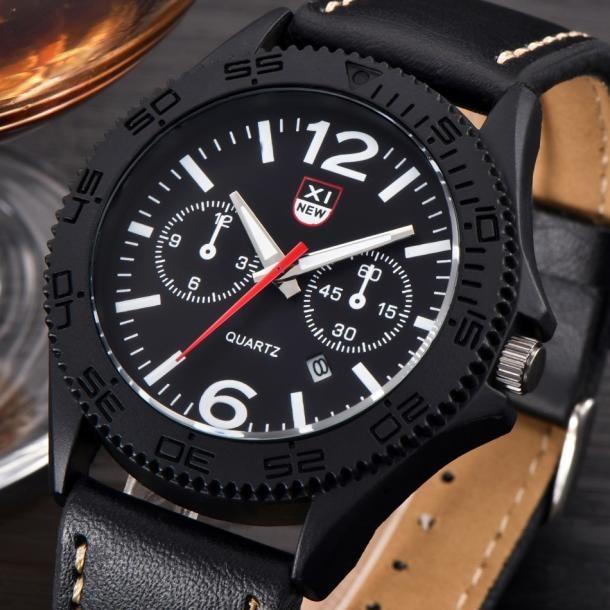 925c072fa6e Xinew marca data relógio dos homens do esporte à prova d  água do vintage  relógio