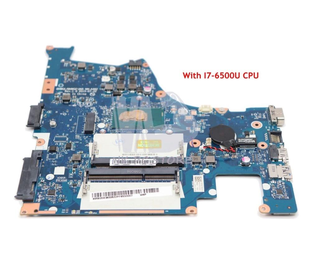 NOKOTION BMWQ1 BMWQ2 NM-A482 For Lenovo IdeaPad 300-14 300-14ISK Laptop Motherboard 14 inch SR2EZ I7-6500U CPU GMA HD 520 DDR3L цена