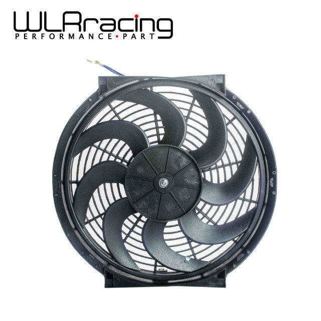 WLR - 14 Inch Universal 12V 90W Slim Reversible Electric Radiator AUTO FAN Push Pull With mounting kit Type S 14 WLR-FAN14