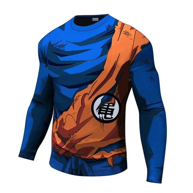 bee8b8973 Bodybuilding Tee Shirt Men 3D Print Dragon Ball Z Tshirt Anime Tees Vegeta  Goku Cosplay T-shirt Funny Shirts Fitness Clothing