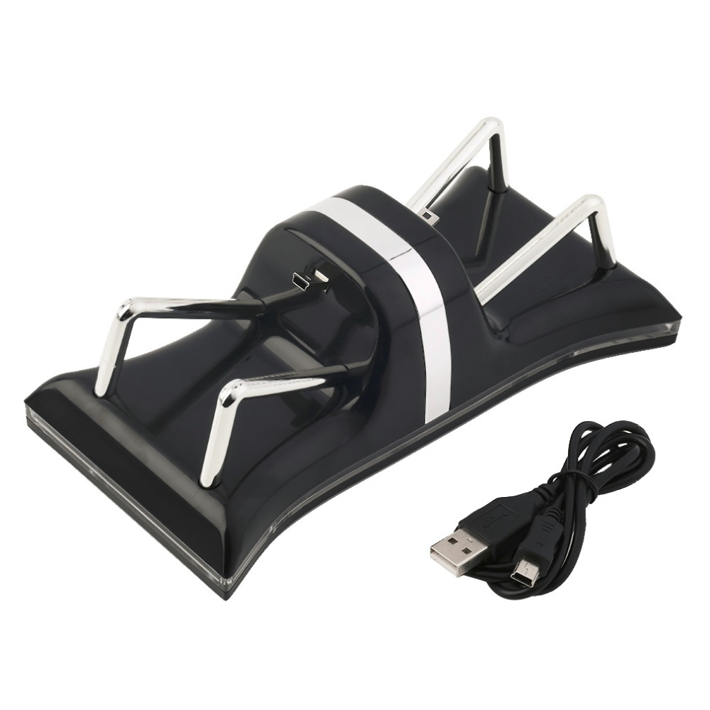 Dual USB Charging Station Dock Adjustable Cradle Stand Mount Holder Chargers For PS3 Wireless Controller Gamepad Game Sticks New