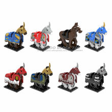 Single Sale Myth Unicorn Toys Horse Nazgul with Robe Bricks Building Blocks Model Set Gift Toys for Children X0158(China)