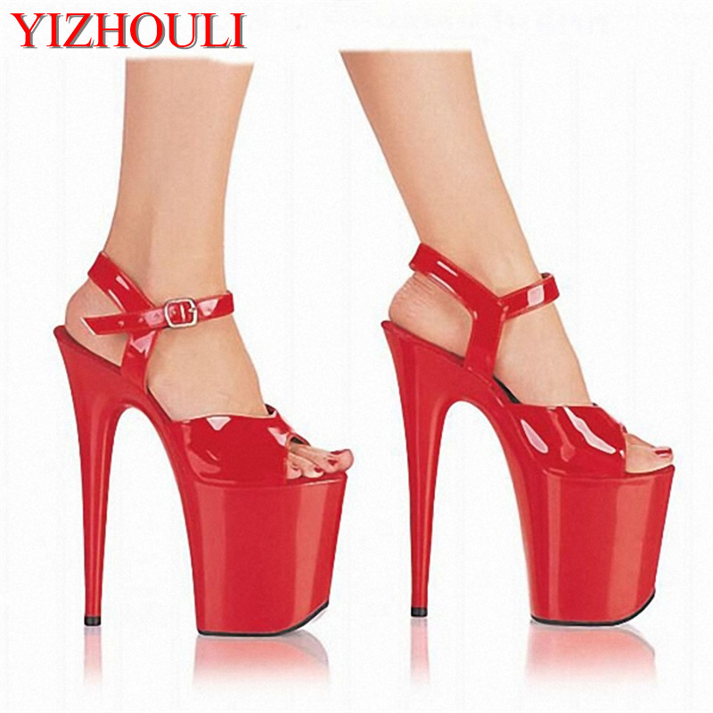 20cm Big sexy mature nightclub colourful shoes unique temperament lady shoes sexy legs shows high heel sandals20cm Big sexy mature nightclub colourful shoes unique temperament lady shoes sexy legs shows high heel sandals