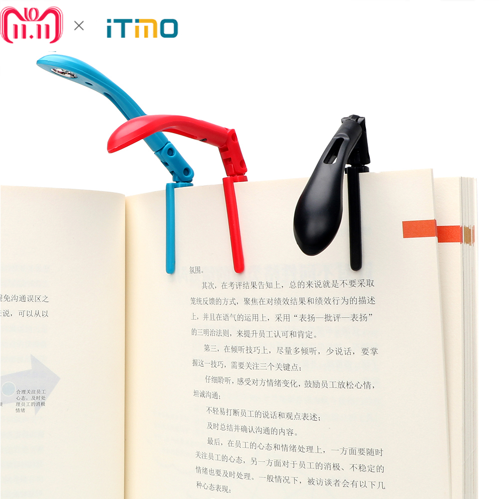 ITimo Clip-on Book Reading Lamp with Battery Folding LED Book Lights For Reader Kindle Adjustable Flexible Night Book Light reader book 2 черный