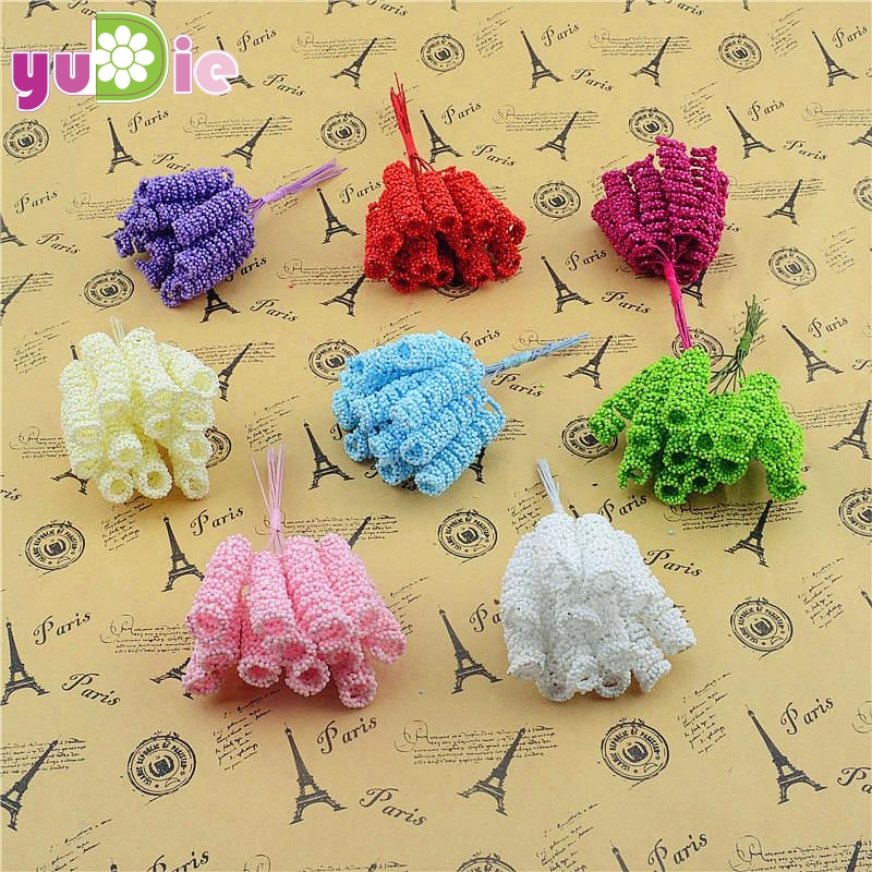Free shipping 3.5cm foam head multicolor bouquet of artificial flowers decorate the home box spring (24PCS/Lot)