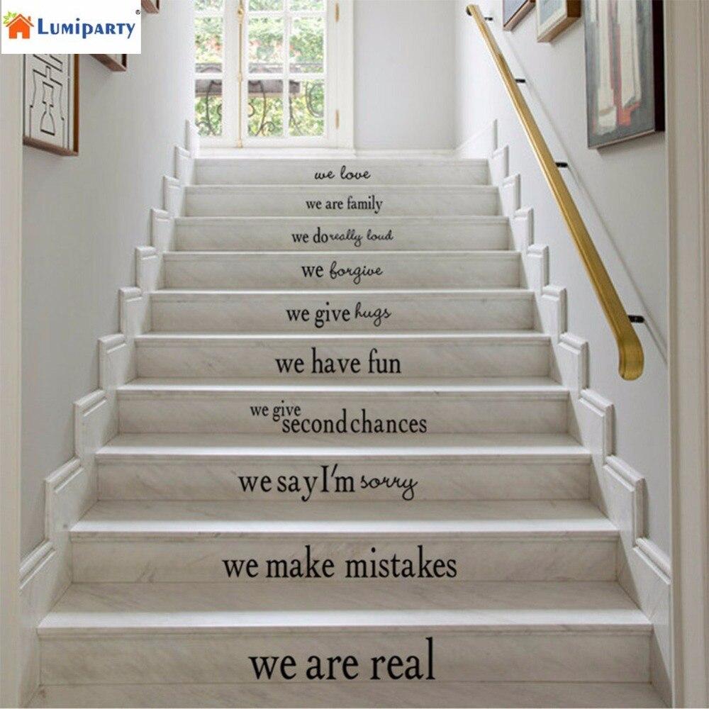 LumiParty DIY Haus Wohnzimmer Schlafzimmer Treppen Englisch Maxim Pvc Entfernbarer Aufkleber Abziehbild Dekor Poster 40
