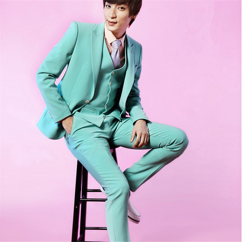 ᗜ Ljഃ2017 Fashion Mint Green Mens Wedding Prom Homecoming Suit ...