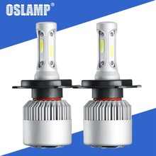 Oslamp S2 72W 8000LM Car LED Headlight Bulbs H4 Led Bulb H7 H11 H13 9005 9006 COB Chips Hi lo Beam Auto Lamp 12V 24V 6500k 4300K(China)