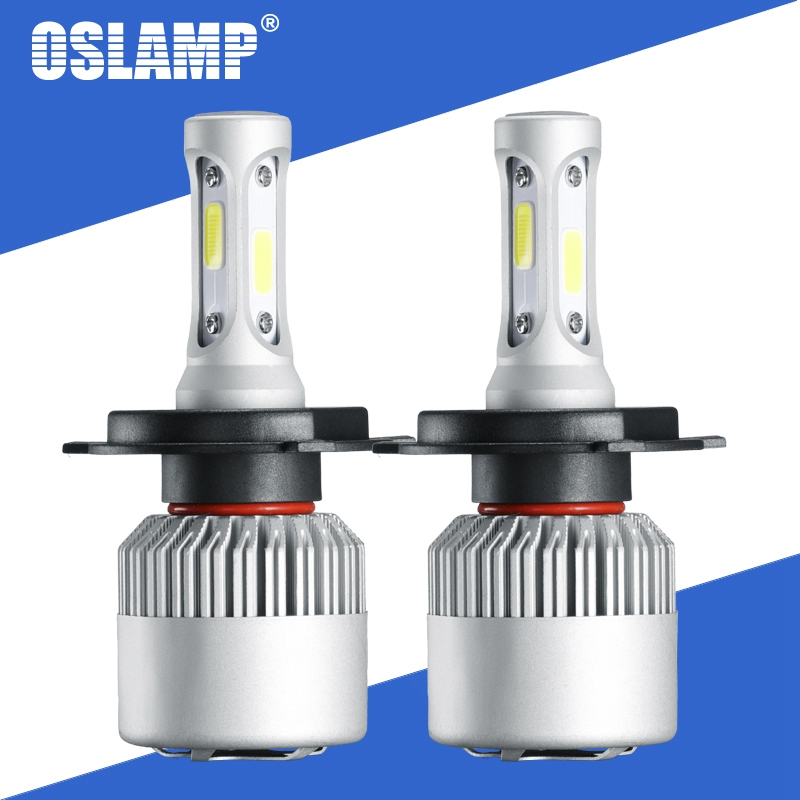 Oslamp S2 72W 8000LM Auto LED-koplamplampen H4 Led-lamp H7 H11 H13 9005 9006 COB-chips Hallo lo Beam Auto Lamp 12V 24V 6500k 4300K