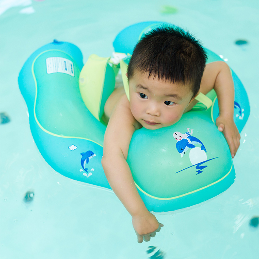Baby Swimming Double Raft Ring Inflatable Kid Swim Pool Circle Toddler Float Trainer Aid for Newborn Bathing baby toys