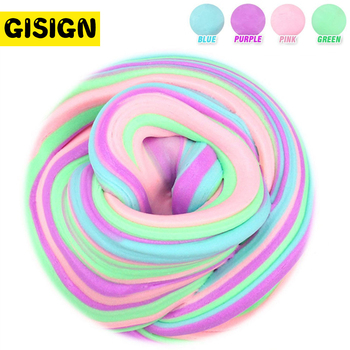 35g macaron color fluffy slime toys diy squishy kids toy with box polymer light soft clay modeling clay plasticine cloud slime 60ml DIY Fluffy Slime Box Soft Light Clay Modeling Polymer Slime Supplies Clay Sand Dynamic Plasticine Gum Toys Kit