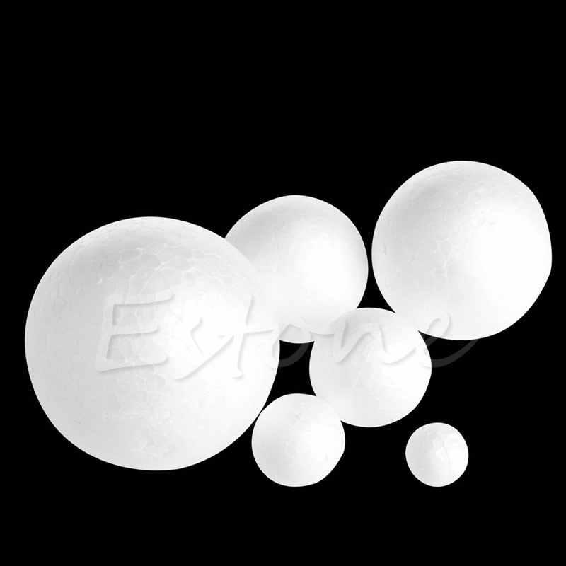 1 pc 60mm/80mm Modelling Polystyrene Styrofoam Foam Ball #1
