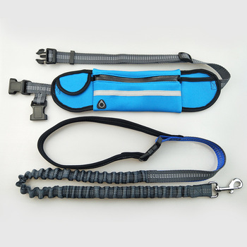 Multifunction Waterproof Pockets Sports Running Jogging Dog Leads Leash puppy Traction rope chain Collars Harnesses Pet Supplies 5