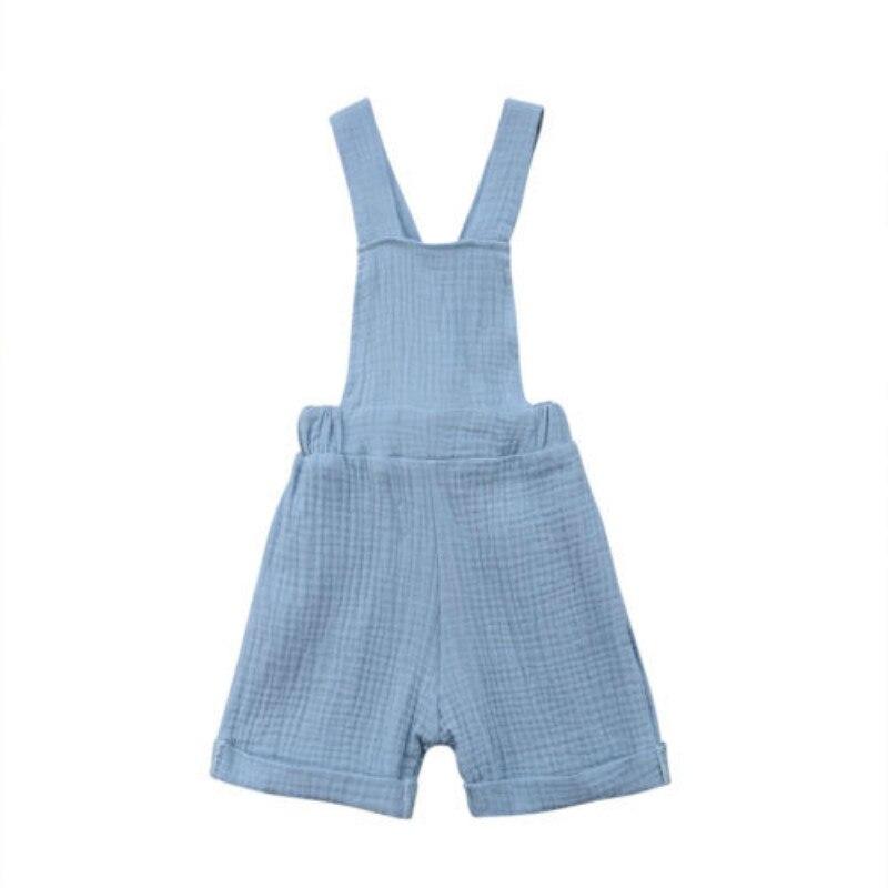 Fashion Kinderen Jongen Meisje 0-4 T Blauw Plaid Bib Broek Romper Jumpsuit Playsuit Kleding