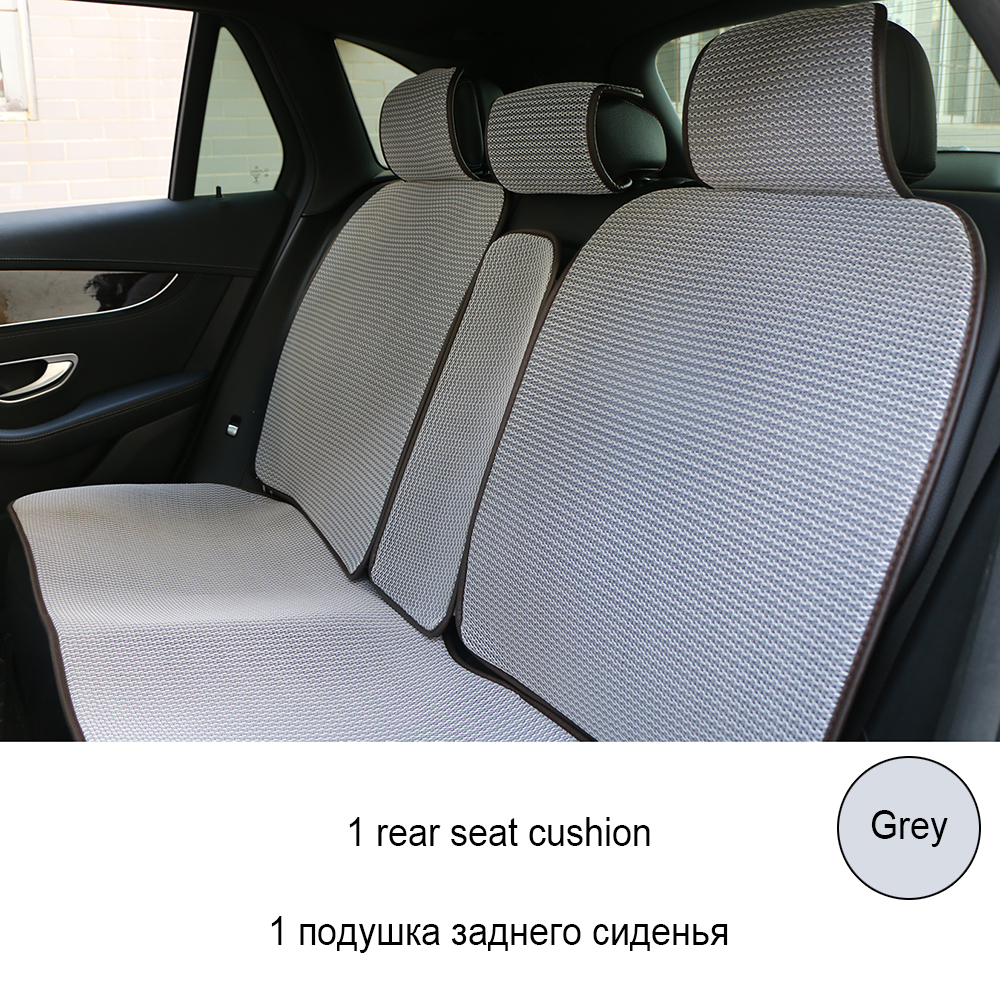 1 dos ou 2 avant coussin de siège Automobile respirant/3D Air mesh tapis de couverture de siège de voiture adapté à la plupart des voitures camions SUV protéger les sièges - 6