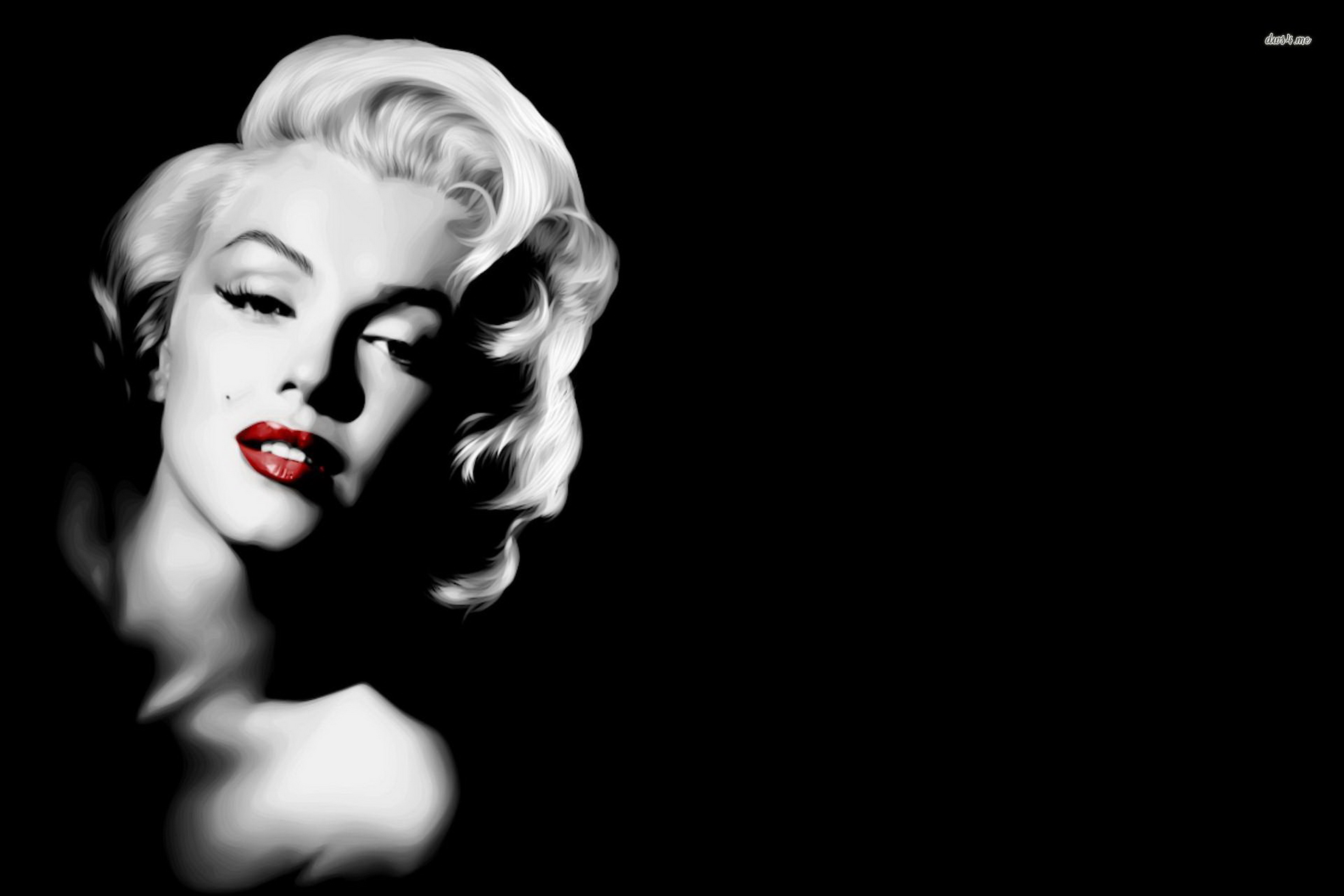 Home decoration marilyn monroe celebrity celebrities black white picture silk fabric poster print rw095