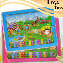 English Language Happy Farm Educational Toys for Kids Tablet Computer Toy Ypad Music with Light Early Childhood Learning Machine