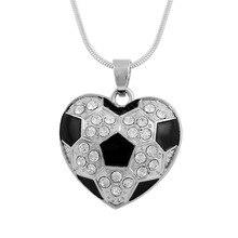 Soccer Ball Crystal Black Chain