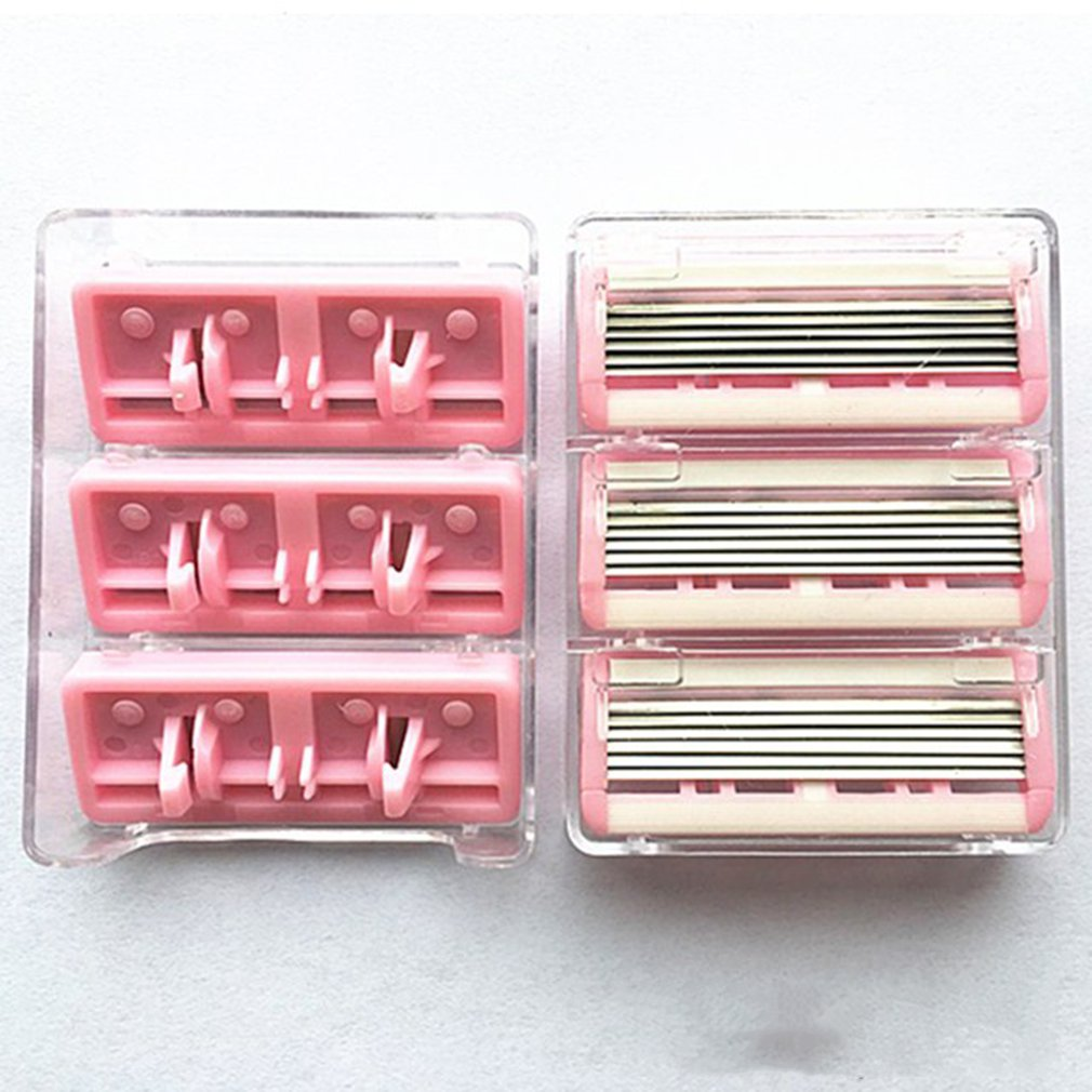 Manuelle Bart Rasierer Manuelle Hand Sicherheit Rasiermesser 10 PCS 6-Schicht Klinge ABS Griff Anti-slip Griff Tragbare heimgebrauch