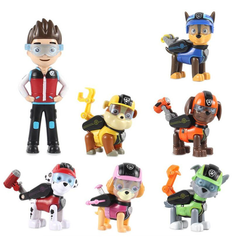 7 Pcs/Set Hot Sell Paw Patrol Dog Puppy Anime Kids Toys Action Figure Model Patrulla Canina Toys For Children Gifts  7 Pcs/Set Hot Sell Paw Patrol Dog Puppy Anime Kids Toys Action Figure Model Patrulla Canina Toys For Children Gifts