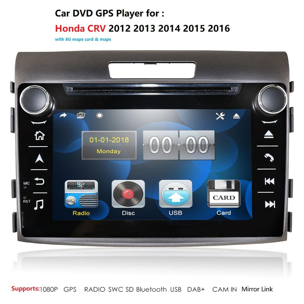 car dvd gps <font><b>multimedia</b></font> player For <font><b>Honda</b></font> CR-V <font><b>CRV</b></font> 2012-2016 car dvd navigation radio video audio player monitor usb rds swc bt pc image
