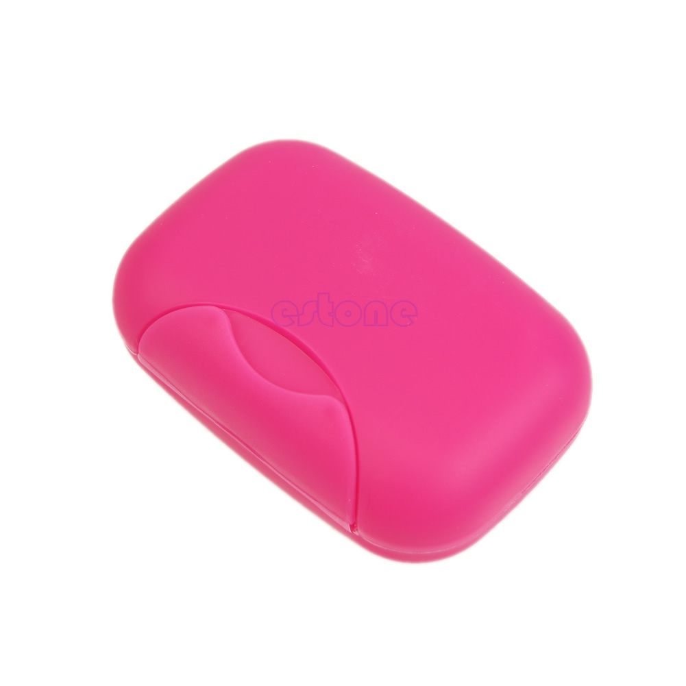 Travel Soap Dish Box Case Holder Container Wash Shower Home Bathroom Outdoor