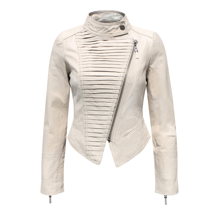 white colour Sheepskin genuine leather jacket women 2016 ...