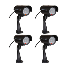 4pcs(1 bag) Fake dummy camera Waterproof CCTV Camera Outdoor Indoor Dummy Fake Camera Night Camera LED Light Video Surveillance