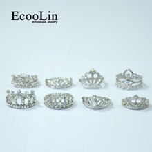 Бижутерия ecoolin 10 шт модные циркониевые блестящие посеребренные
