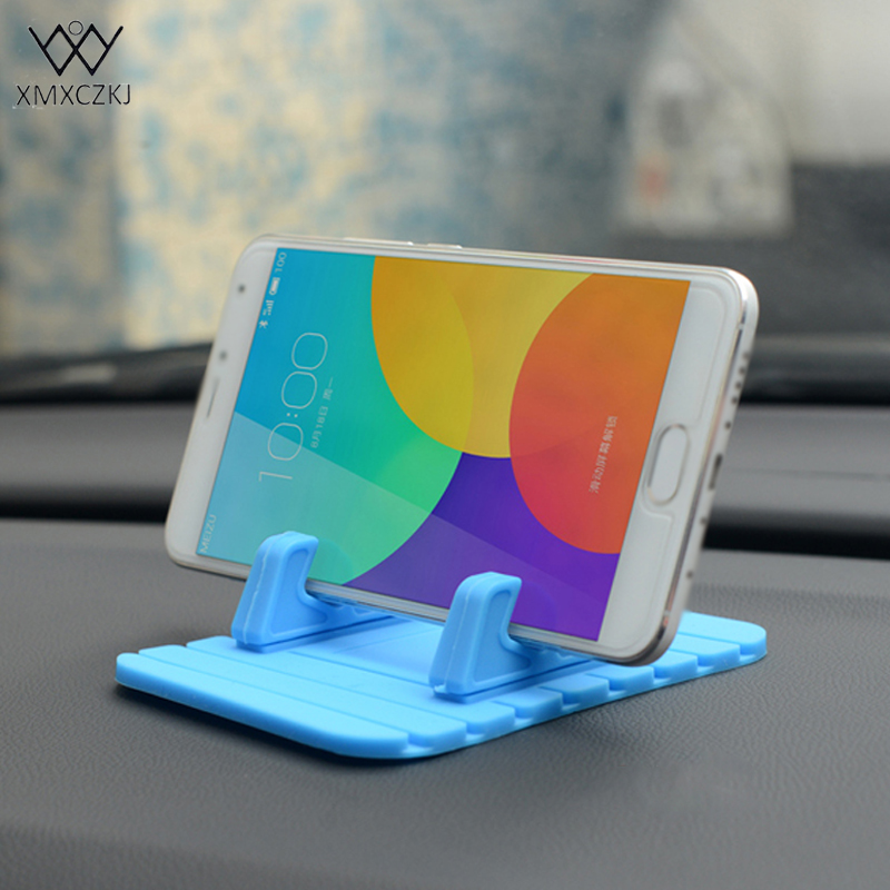 XMXCZKJ universal Silicone Rubber Car Anti Slip <font><b>Mat</b></font> Pad <font><b>Phone</b></font> <font><b>Holder</b></font> for iPhone 5 6 7 Plus Desktop Stand Bracket for Xiao stand