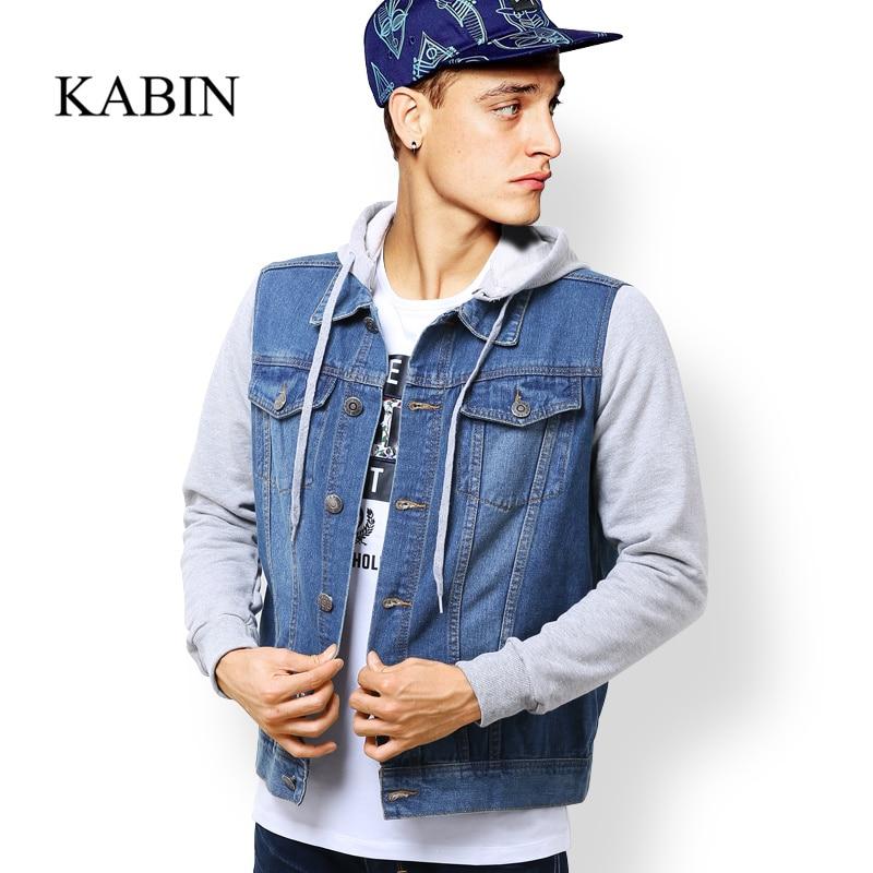 Kabin 2015 Autumnspring Mens Denim Hoodies High Quality